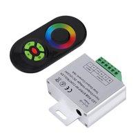 2021 جديد اللمس RGB تحكم DC12V 24V اللاسلكية LED تحكم RF لوحة اللمس LED باهتة RGB عن بعد