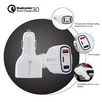 18W Autoladegerät 3 Ports QC3.0 + USB2.0 + Typ-C 5V / 3.1A Multi-Port-Adapter mit Einzelhandelspaket