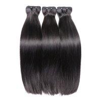Двухрисованные костные прямые человеческие вигин волосы волосы 4 пучка натуральный цвет толстые концы