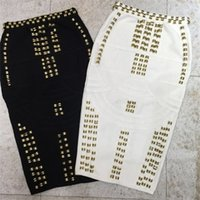 Top Quality White Black Beading Sexy Fashion Rayon Bandage S...