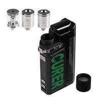 Authentic LTQ Damp Curer 3 i 1 Vaporizer E Cigarettkit 1600mAh VAPE MOD för torr ört tjock olja Vaxjusterbar temperatur