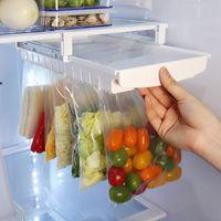 Depolama Rafı Buzdolabı Pull-Out Organizatörler Kilitli Çanta Bitirme Tutucu Mutfak Alır Çerçeve Emtia Raf HH21-336