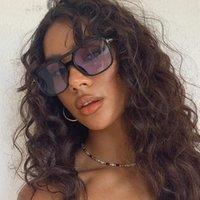 Sunglasses 2021 Fashion Big Frame Men Square Sun Glasses Women Retro Vintage High Quality Gafas