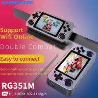 RG351M Retro Handheld Game Players Aluminum Alloy Shell 64G Video Game Console Open Source Linux System Support Wifi