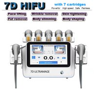 HIFU for skin tightening weight loss body slimming machine 7D High Intensity Focused Ultrasound ultrasonic face lifting wrinkle removal