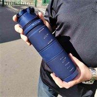 Water Bottles 1000ml Capacity Drinking Portable Plastic Protein Shaker My Sport Drink Bottle Tritan a Free 210901