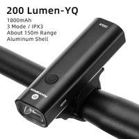 Rockbros Bike Light Pietre Aproof USB LED 2500mAh MTB Lampada frontale Lampada frontale Alluminio Ultralight torcia elettrica