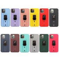전화 케이스 TPU PC 안티 가을 및 충격 방지 iPhone 13 Pro Max 12 11 8 플러스 브래킷 링 보호 커버