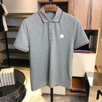 Tasarımcı Erkek Monclair Polo Gömlek Kadın T-Shirt Moda Giyim Nakış Mektup Iş Kısa Kollu Calssic Tshirt Kaykay Casual Tops Tees On