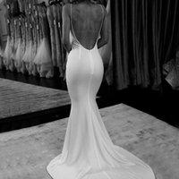 Mermaid Wedding Dresses With Wrap 2022 Bridal Gowns Spaghetti Straps Backless Sweep Train vestidos de novia
