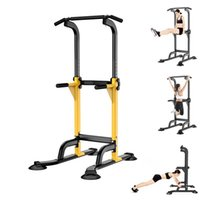 Horizontal Bars Adjustable Height Pull Up Dip Station Power Tower Pull-ups Stand For Home Gym Strength Workout Fitness Equipment