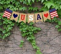 لافتات البلونال الأعلام سلسلة استقلال يوم الاستقلال رسائل الولايات المتحدة الأمريكية الرايات لافتات 4 يوليو حزب الديكور YYS4933