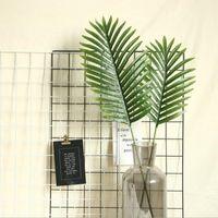 Decorative Flowers & Wreaths Big Palm Tree Leaves Vases For Home Decor Artificial Plants Wedding Table Decoration Floristics Fake Leaf