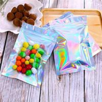 Borse a prova di plastica dell'odore di plastica della borsa di alluminio con la cerniera richiugabile Confezione con cerniera Colore olografico con foro appeso