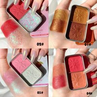 Eye Shadow 2 Color Mini Eyeshadow Palette Hard Candy Shiny Pearlescent Matte Makeup Highlighter Sunset Blush Cosmetics