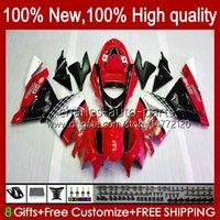 Body Kit OEM voor Kawasaki Ninja ZX1000C ZX 10 R 1000 CC ZX1000 04-05 Carrosserie 9NO.125 ZX 10R 1000CC ZX10R 04 05 ZX-10R ZX1000CC 2004 2005 Motorfiets Verkosten Stock Red BLK