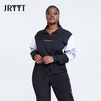 Yoga Outfit Jryyt Fitness Plus Größe 4XL Sportswear Tops Frauen Workout Sweatshirt Weibliche Laufsport Hemden Damenaktivscheine