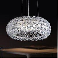 D35 / 50/65 cm Sospensione moderna Foscarini Caboche Caboche Lampada a sospensione Sweat Ion Acrylic Ball Pendant Lights Modern Light Fixtures