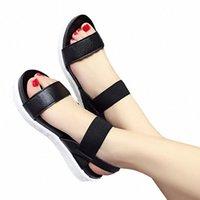 Frete grátis 2019 verão leopardo sandálias de grão mulheres sandálias sapatos mulher peep-toe sapatos liso mulheres romanas 401s #