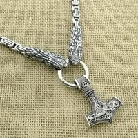 Pendentif Colliers Viking Odin Guerrier Chèvre Collier Collier en acier inoxydable Dominateur Snake Snake King Chaîne Mode Bijoux