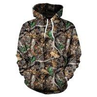 Санспиные кленовые листья камуфляж 3d толстовки мужчины женщин на открытом воздухе рыбалка кемпинг охотничья одежда Унисекс пуловер с капюшоном пальто вершины 201128