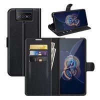 Lychee зерна кошельки PU кожаные чехлы с держателем карты для ASUS ZENFONE 8 FLIP ZS590KS 7 ZS670KS 6 ZS630KL Rog Phone 5 3 ZS661KS