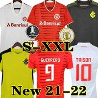 TAISON 21 22 Club Internacional Soccer Jersey Red Home 2021 2022 بعيدا أبيض وردي ثالث كرة القدم قميص المرأة N. Lopez d.alessandro Pottker Top