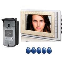 Video Door Phones Home Intercom Phone 7 Inch Monitor 1000TVL Doorbell Camera Kit