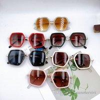 Fashion Kids sunglass boys gilrs polygon transparent Frame sunglasses Children outdoor eyeglasses Uv protection beach sunblock Q2241