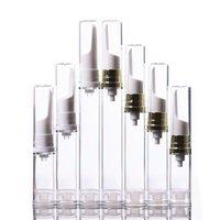 5ml 10ml 12ml 15ml Cream Cancella Eye Cream Airless Pump Bottle Pump Boccetta Aspiratori come bottiglie di emulsione Travel Plastic Fials Container