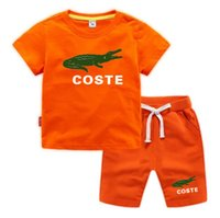 Summer Children Cotton sets Clothes Baby Boys letter Print O-Neck white T Shirt Shorts 2Pcs Infant Kids Fashion Toddler Tracksuits