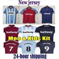 21 22 West Soccer Jerseys Ham 2021 2022 United Home Away Yarmolenko Lanzini Noble Bowen Antonio Football Shirt Fornals Rice Mens + Kit Kit Ensemble Jersey Soucek Benrahma