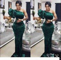 Elegant Green One One плечо вечерние платья вечерние платья вечерней длины в городе на заказ южноафриканский 2019 выпускные платья Vestido de Festo