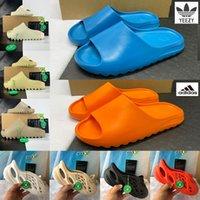 Mit box adidas yeezy schieber slipper sandalen schuhe enfora enflame orange harz knochen dreifache schwarze erde braune ruß ararat männer frauen designer sandal