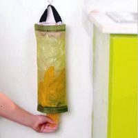 Hanging Baskets Home Kitchen Mesh Organizer Grocery Bag Holder Wall Mount Storage Dispenser Plastic BWD7724