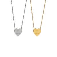 Mode 18k Gold Silber Heart Anhänger Charms Halskette mit Gravur gemacht in Italien g Jewellry