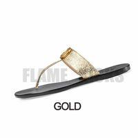 Mujeres para hombre Diapositivas Flip Flops Cuero para mujer Doble Sandalia Metal Negro Oro Zapatillas Sandalias de playa Blanca Sandalias con regalos de caja