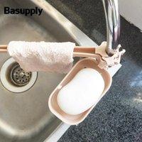 Banyo Aksesuarı Set Basuply 1 Takım Musluk Tahliye Rafları Bez Sünger Depolama Raf Temizlik Raf Havlu Tutucu Mutfak Banyo Aksesuarları