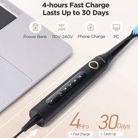 Fairywill Elektrikli Sonic Diş Fırçası FW-507 USB Şarj Şarj Edilebilir Yetişkin Su Geçirmez Elektronik Diş 8 Fırçalar Değiştirme Kafaları