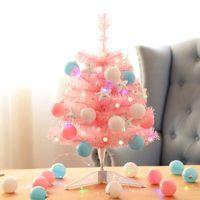 Christmas Decorations Pink Mini Tree 60cm Ornaments Pendant Window El Shopping Mall Counter Desktop Decor