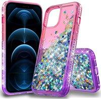 iPhone 13 12 11 Pro Max Cases 럭셔리 반짝이 액체 Quicksand 전화 케이스 스파클 반짝 이는 블링 다이아몬드 귀여운 보호 커버와 양성 메모 20 울트라와 호환