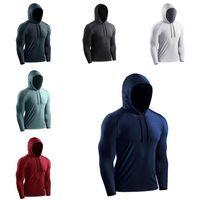Designer lulu men shirt tshirt long sleeve hoodies sweatshirts quick dry jumper pullover hoodie Running stretch mens training clothes top slim yoga