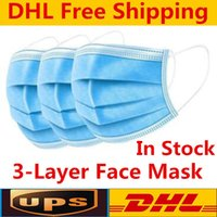 DHL Disposable Masks 3ply Non-woven Face Mask Protection and Personal Health Mask with Earloop Mouth Face Sanitary Masks