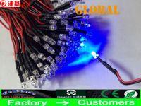 1000 Pieza 12V Beads Luz Super Bright LEDs 3mm 5 mm Color constante de color constante de un solo color que parpadea los soportes negros Multicolor LED luces