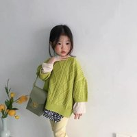Pullover 2021 Korean Girls Boys Knitted Sweaters Autumn Fashion Kids Sweater 2-8 Years