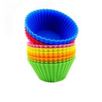 Silicone Muffin Cupcake Cup Cake Mould Case Bakeware Maker Mold Tray Baking Jumbocq2t