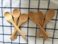 13 см мини деревянная бамбуковая ложка милая приправа ложка ложка мороженого ложки деревянные столовые посылки 100 шт. / Лот 205 S2