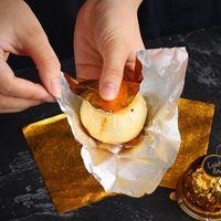1set = 50 pcs ouro folha de alumínio doce cookie de chocolate envoltório papel de estanho diy metal gravando presente embalagem papel de embarque papel fwf7688