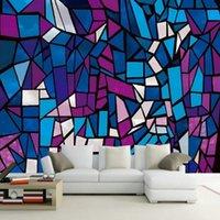 Wallpapers Drop Wallpaper 3d European Church Color Glass Background Wall Living Room Restaurant Bedroom Custom Mural