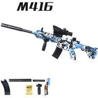 M416 دليل لعبة البنادق للبنين مع المياه رصاصة البلاستيك سلاح نموذج هدية عيد الألوان